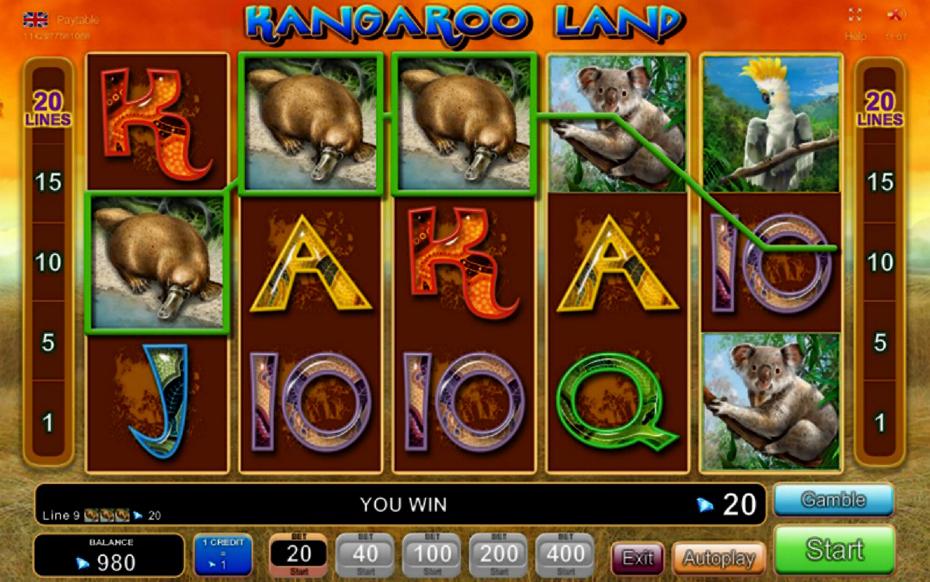 Kangaroo Land Slot Machine